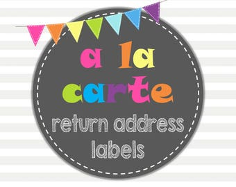 Return Address Labels | Printable Return Address Labels | Add On | Made-to-match