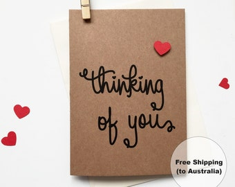 Thinking of You Greeting Card – Heart Thinking of You Greeting Card – I Miss You Greeting Card