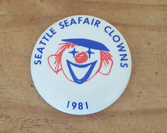 Seattle Seafair Clowns pinback from 1981