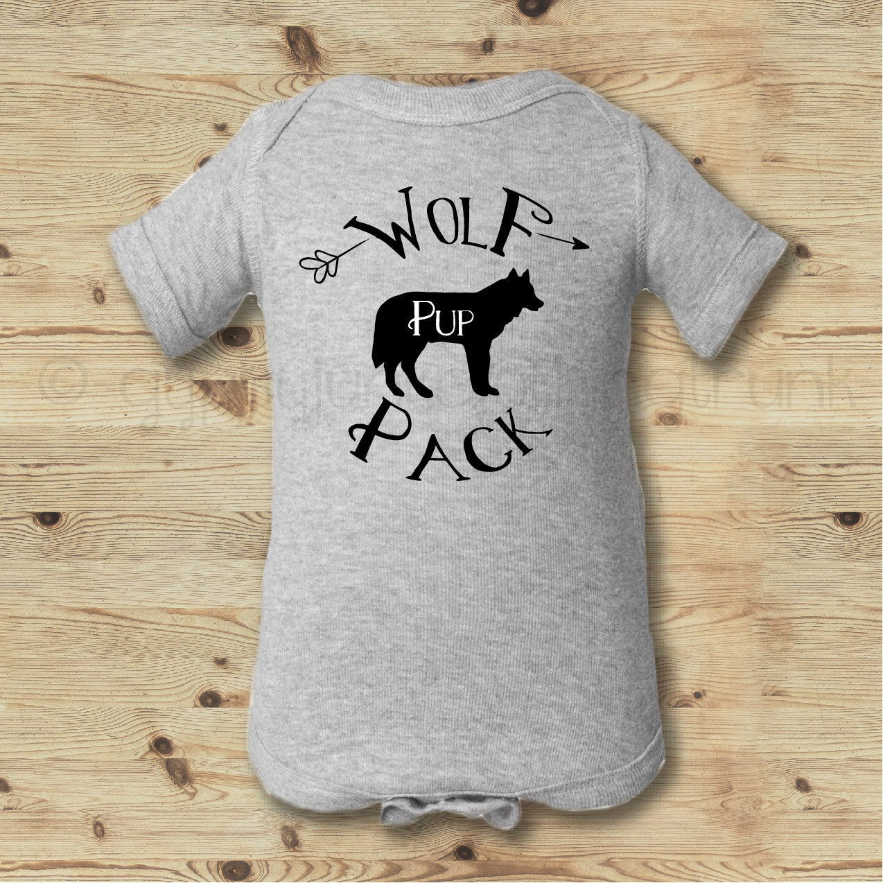 Baby Wolf Shirt Wolf Pack Baby Shirt Wolf Pup Outfit