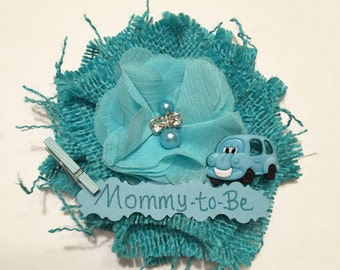 Baby Shower Corsage, Bus Mommy-to-Be Corsage, School Bus Mommy-to-Be Corsage, Bus Mom-to-Be Pin, School Bus Baby Shower Pin