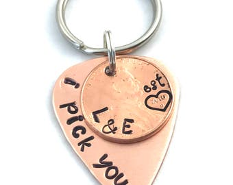 Valentines Day Gift - I Pick You - Lucky Penny - 1st Year Anniversary Gift - Personalized Penny - Gift for Husband - Lucky
