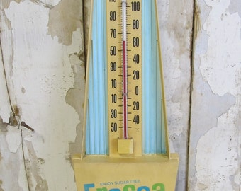 Vintage Fresca Soda Advertising Thermometer, Retro Decor, Kitchen Decor