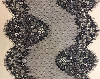 Black lace trim, Chantilly Lace Trimming, Lace Trim