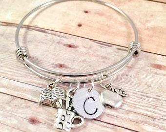 Teacher bracelet, Thank you teacher gift, Teacher personalized bracelet, back to school teacher gift, teacher appreciation gift