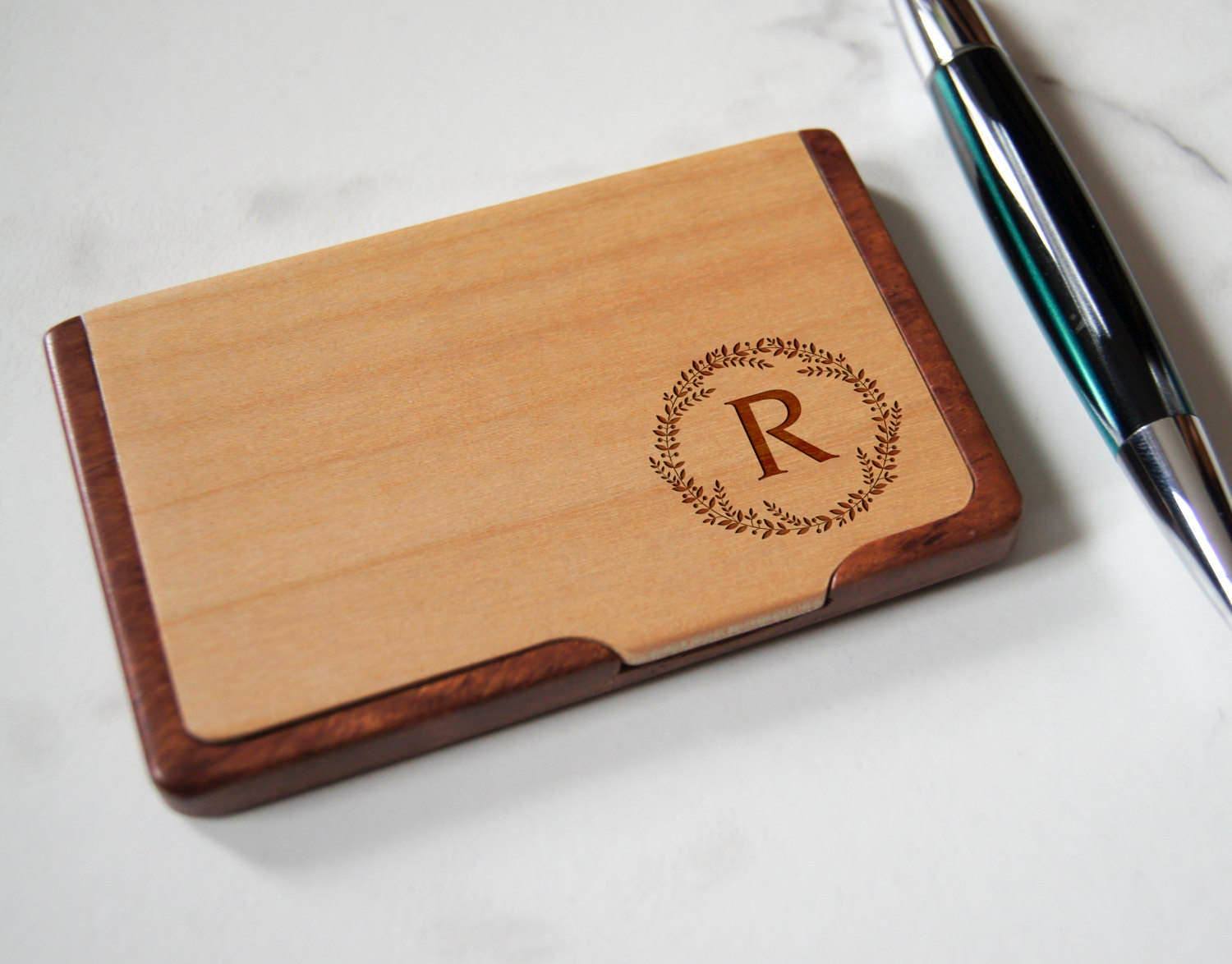Customized Business Cards Holder, Personalized Wooden Business ...