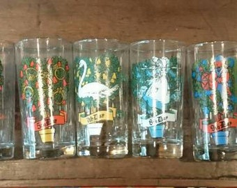 Open stock of 12 Days of Christmas glasses