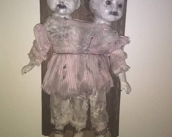 Candy Girls Conjioned Twins Doll! Creepy doll,Haunted doll