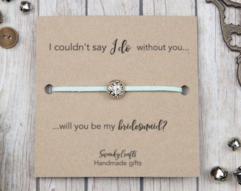 Bridesmaid bracelets - will you be my bridesmaid? - bridesmaid gifts - mint bridesmaid - mint bracelets - I couldnt say I do without you