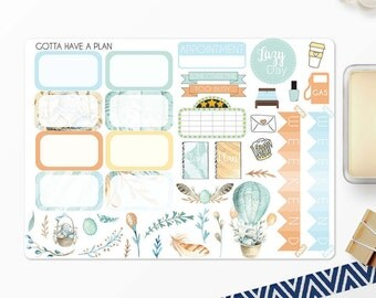 Planner Stickers Easter Bouquet Half Boxes and Deco for Erin Condren, Happy Planner, Filofax, Scrapbooking