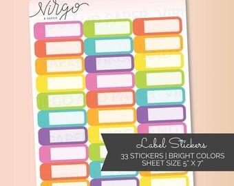 Appointment Labels Multicolor - Event Label Planner Stickers - Choose Colors  - Choose Glossy, Matte LA