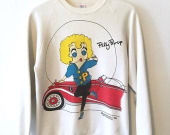 Vintage 1985 Patty Pin-Up Crewneck