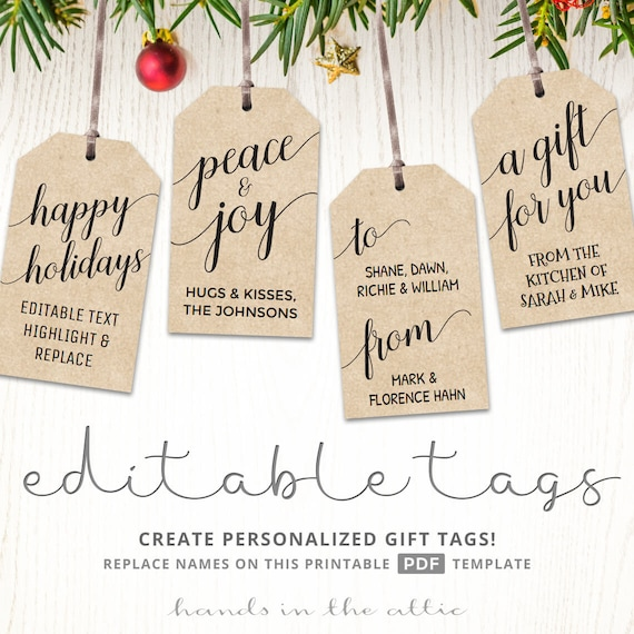 Impeccable image pertaining to printable kraft tags