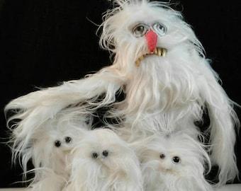 YETI-art doll-art box-OOAK-decoration-family-childrens-father-white