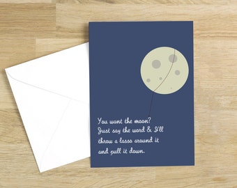 It's a Wonderful Life - Lasso the Moon Quote Minimal Style Card