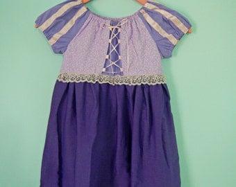 Rapunzel dress - Tangled dress - Rapunzel costume - princess dress - cotton play dress