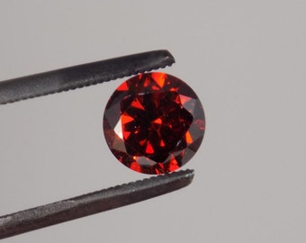 1.4 ct almandine garnet 5.75 mm round stunning color