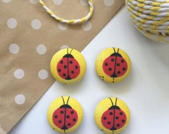 Lady Bug Magnets, White Board Magnets, Refrigerator Magnets, Lady Bugs, Gifts Under 10, Teacher Gift, Lady Bug Decor, Gifts For Teachers,