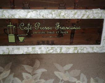 """Antique Transom Window #1 of 2.  Use In A Cupboard Cabinet Piece or Display with French Lettering as Seen.  Wavy Glass 36"""" x 11.5"""