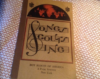 Songs Scouts Sing, Vintage Boy Scout Book