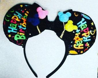 Birthday ears/happy birthday ears/handmade ears/happy birthday