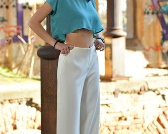 Womens White Pants, Suit Pants, Summer Trousers, Minimalist Pants, Boho Pants, Straight Pants, Long Pants, Formal Trousers, Wide Leg Pants