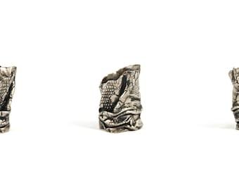 textil . big silver ring