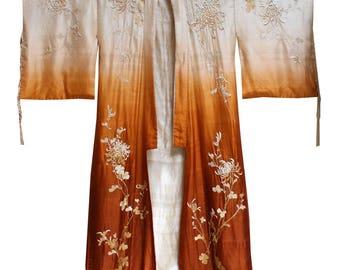 REDUCED 1930s Silk Ombré Kimono