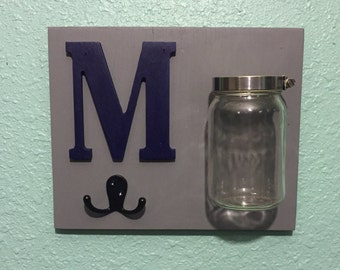 Personalized mason jar sign