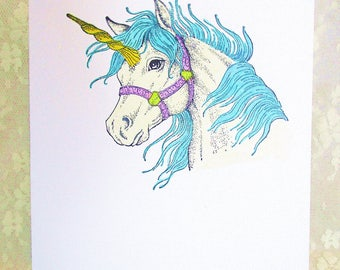 Unicorn Card: Add a Greeting or Leave Blank