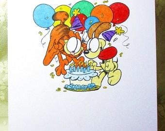 Garfield Birthday Card: Add a Greeting or Leave Blank