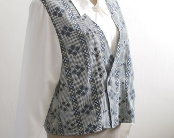 Two Dollars Top -CLEARANCE- Vintage shirt and vest 2 in 1