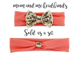 mommy and me, baby headband, matching headbands, mommy and me headbands, mommy and me set, mom and daughter, toddler headband