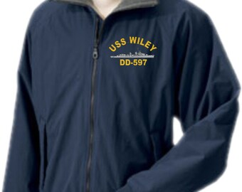 USS WILEY DD-597  Embroidered Jacket   New