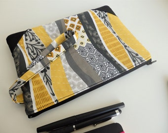 African Wristlet, Cosmetic Bag,  Boho Clutch, Boho Bag, Gift For Her, African Purse