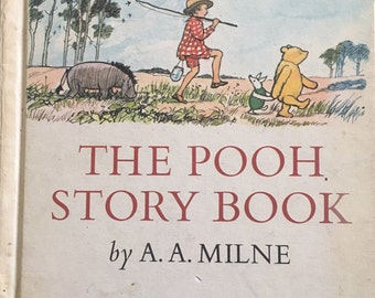Winnie the Pooh, A A Milne, 1960s storybook, Pooh Bear, Piglet, Christopher Robin, Eeyore, E H Shephard, children's classic