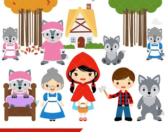 Little Red Riding Hood Clipart / Fairytale Clip Art