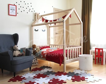 Huis bed 160 x 70 80 90cm montessori bed huis huis kind for One of a kind beds