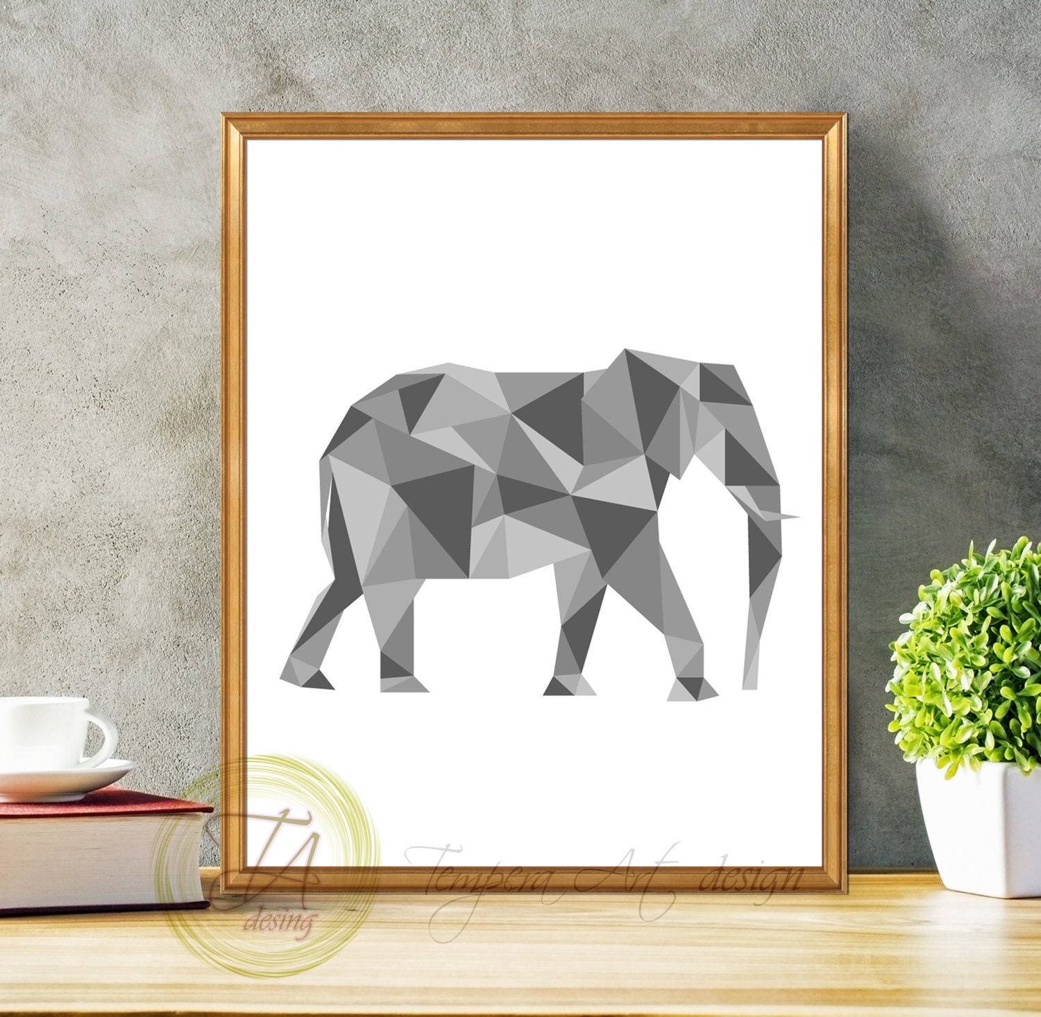 Elephant print elephant art decor elephant wall art black for Elephant wall mural