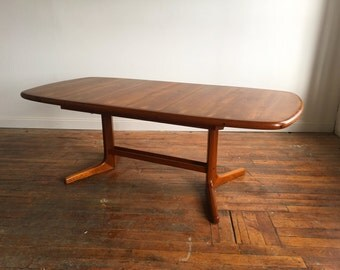 Expandable Danish Modern Teak Dining Table by Dyrlund