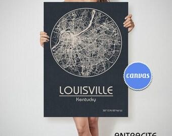 LOUISVILLE Kentucky City Map Louisville Kentucky Art Print Louisville Kentucky poster Louisville map art United States of America Poster
