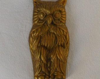 Brass Owl Hook