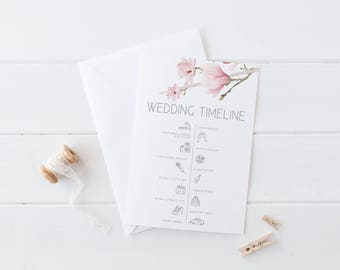 Wedding Welcome Sign | Timeline of Events | Ceremony Timeline | Wedding Timeline Sign | Magnolia Collection