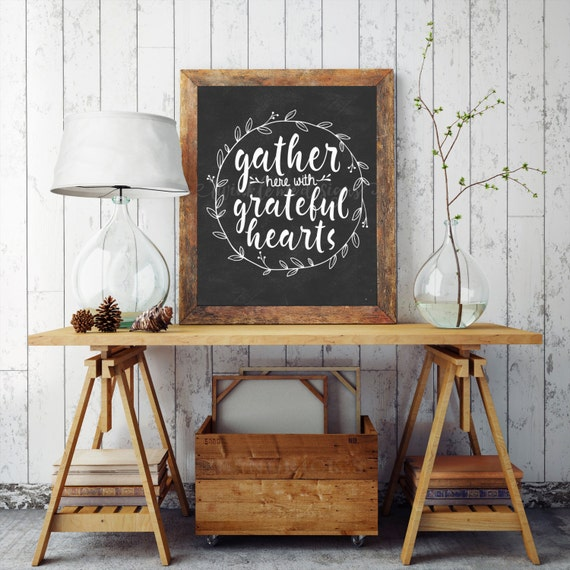 Rustic Wall Art For Dining Room : Dining room sign gather wall art rustic