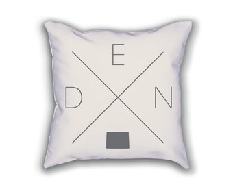 Denver Home Pillow - Colorado Pillow, Colorado Home Decor, Denver Home Decor, Colorado Home Pillow, Colorado Throw Pillow