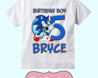 Sonic the Hedgehog Birthday shirt