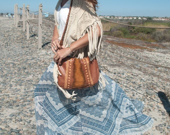 Tan Leather Bag * Crossbody Leather Bag * Shoulder Bag * Handmade Bag * Hippie Leather Bag * Leather Purse * Boho Bag * Boholuxe Purse *
