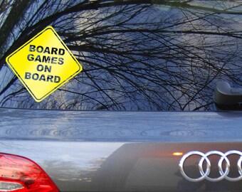 Board Games on Board car decal