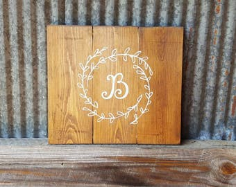 Rustic Initial Sign~Initial Sign~Wedding Gift~Gifts~Housewarming~Rustic wood Sign~Wall Art~Country Decor~Family Sign~Pallet Wood Sign~Family