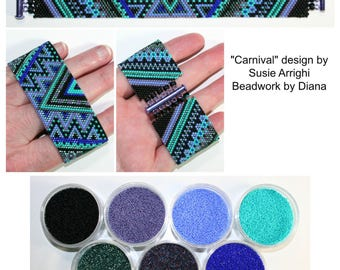 Carnival by Susie at Silvery Moon beaded bracelet kit (pattern sold separately)